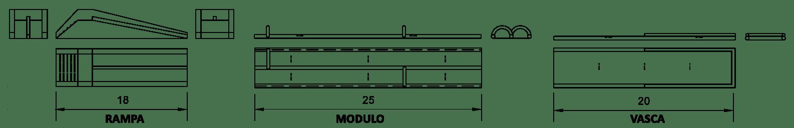 City Slide moduli gonfiabili