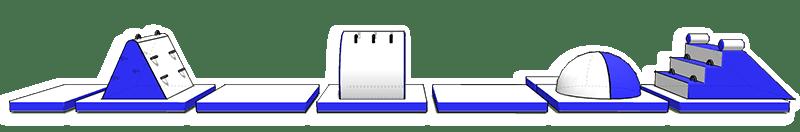 Splash Park gonfiabile galleggiante