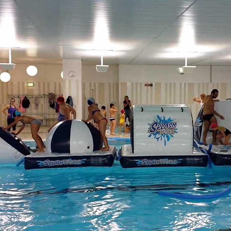Splash Park gioco gonfiabile galleggiante in pisicna