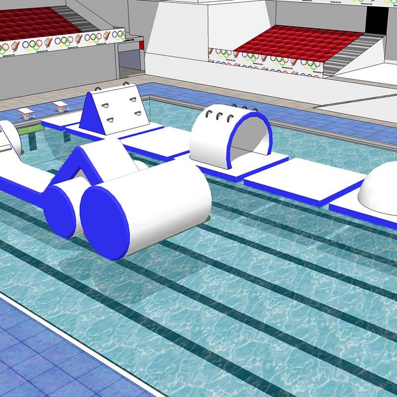 Splash PArk gonfiabile acquatico galleggiante
