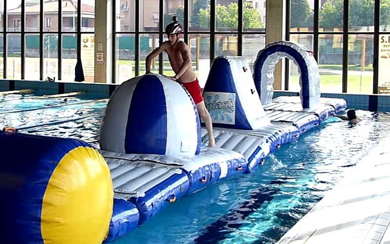 Splash PArk gonfiabile prova sportiva